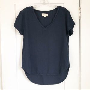 Anthropologie Cloth & Stone Navy Blouse